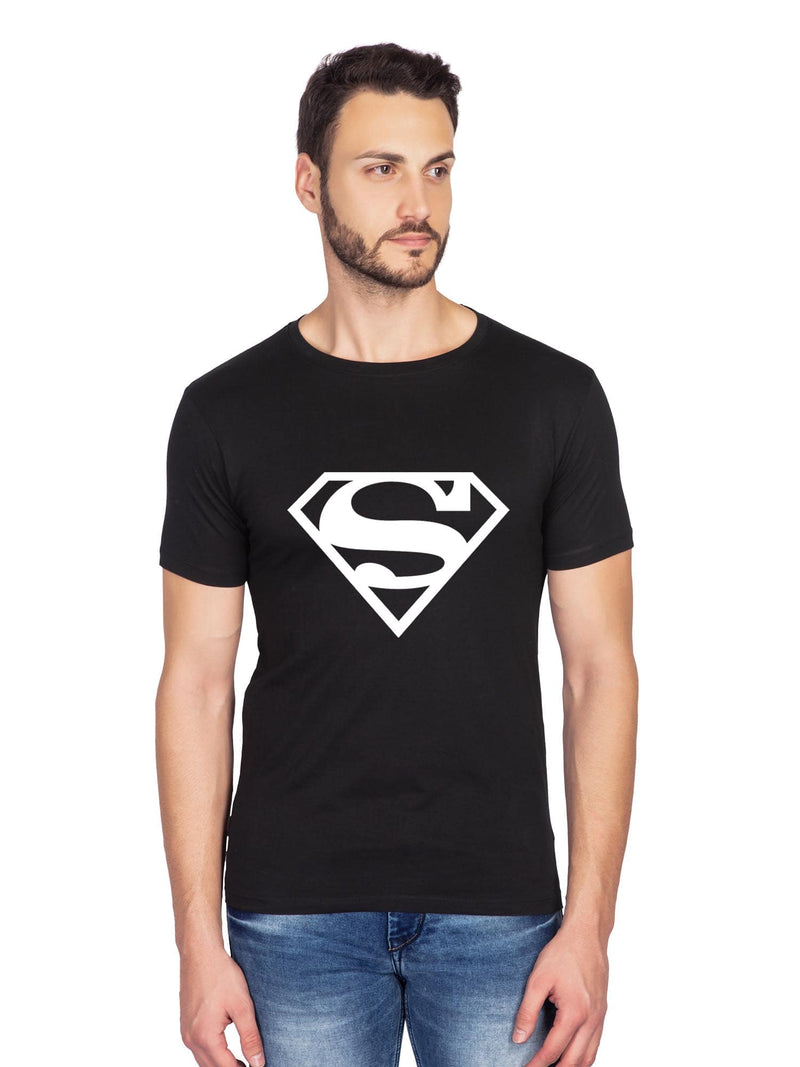 glow in dark superman black t shirt-bluehaat