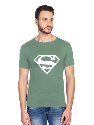 Glow In Dark Superman Logo Half T shirt