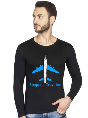Glow In Dark Wanderlust Flight Airplane Traveler Full Tshirt - bluehaat