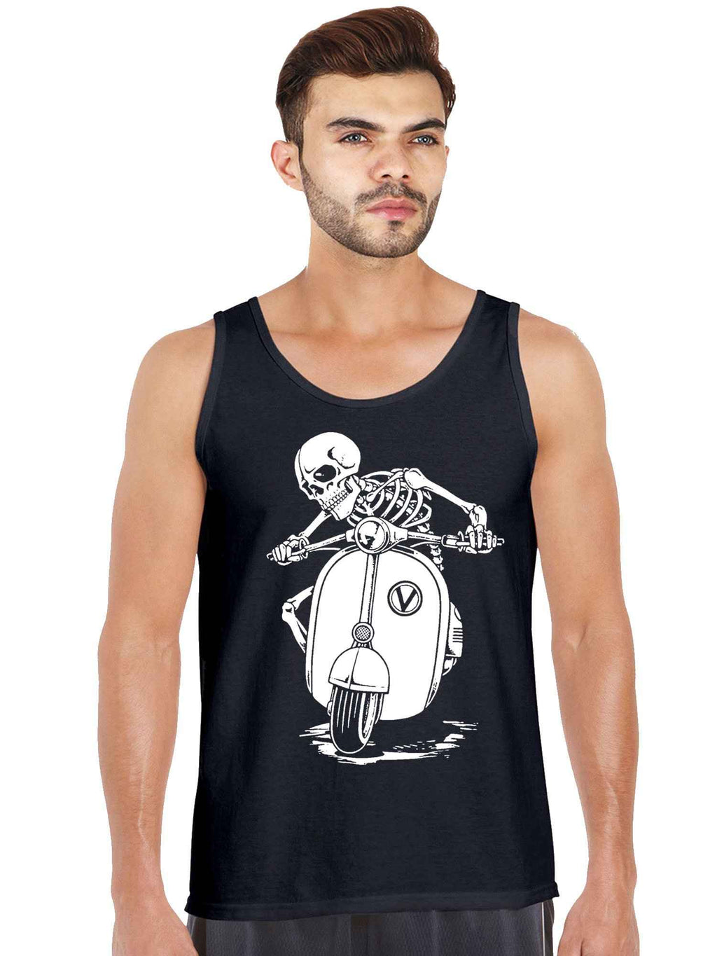 Vsepa Skull Graphics Printed Tank Top - bluehaat