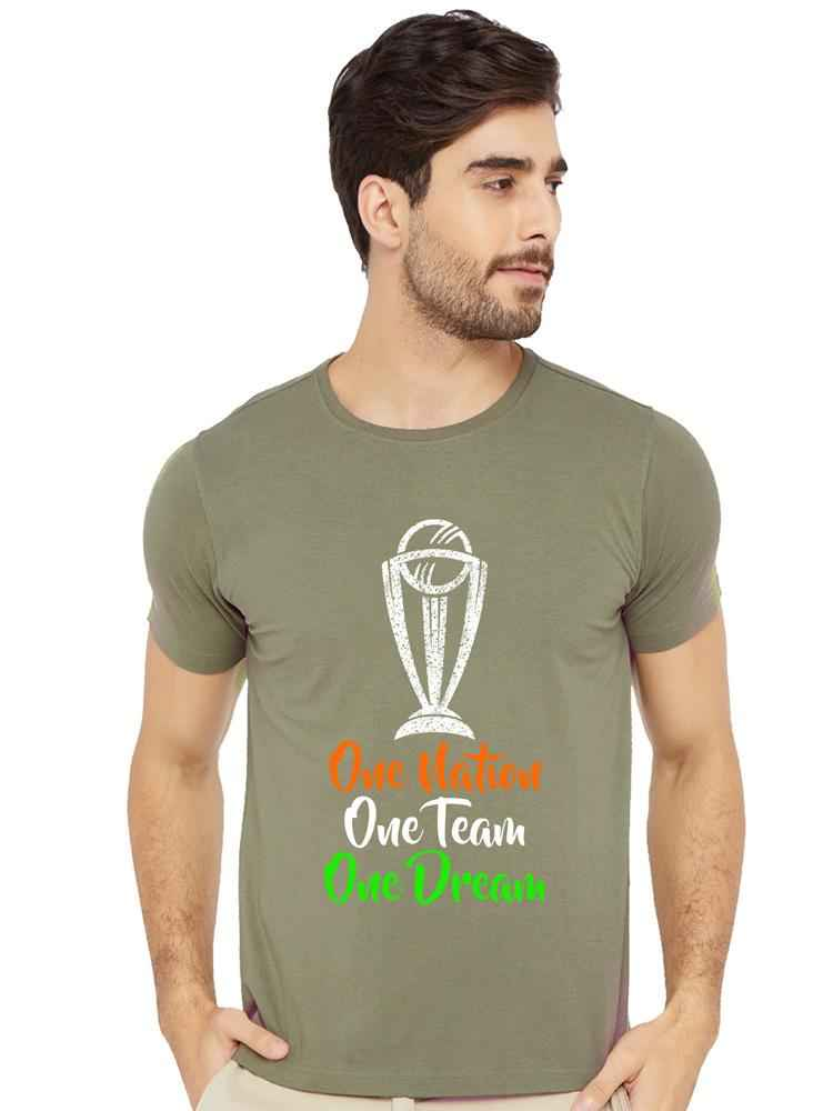 One Nation One Team One Dream Half Tshirt - bluehaat