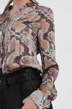 Load image into Gallery viewer, Beige Shirt With Snake Print