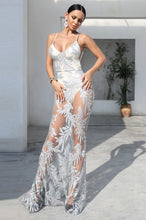 Load image into Gallery viewer, Silver Sequin Maxi Dress