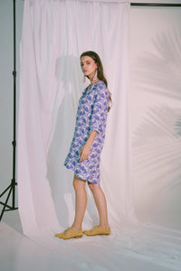 Storge Shirt Dress in Blue Biro