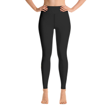 Load image into Gallery viewer, Black Racer Side- Stripe Yoga Leggings