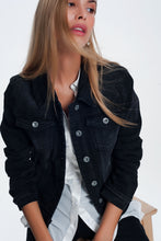 Load image into Gallery viewer, Denim Jacket in Washed Black
