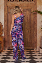 Load image into Gallery viewer, Nymph Jumpsuit in Blue Foliage