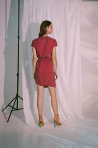 Pragma Wrap Dress in Claret