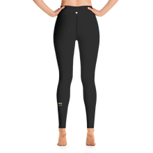 Load image into Gallery viewer, Black Rainbow Side-Stripe Yoga Leggings