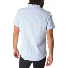 Load image into Gallery viewer, Devin Blue Seersucker Striped Shirt