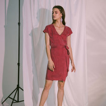 Load image into Gallery viewer, Pragma Wrap Dress in Claret
