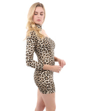 Load image into Gallery viewer, Reeves One-Sleeve Leopard Print Mini Dress