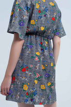 Load image into Gallery viewer, Mini Dress With Colourful Flower Print