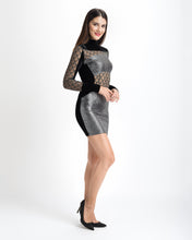 Load image into Gallery viewer, Metallic Silver Dress