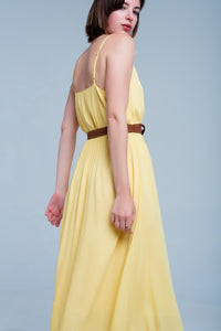 Yellow Dress With Crochet Trim