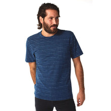 Load image into Gallery viewer, Lucas Indigo Jacquard Tee