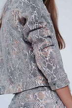 Load image into Gallery viewer, Beige Snake Print Jacket