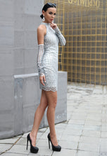 Load image into Gallery viewer, Silver Short Dress