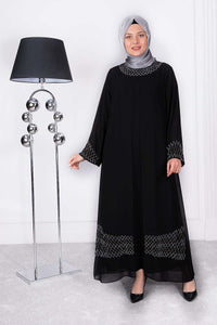 Women's Black Long Evening Dress