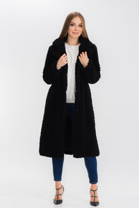 Womens Faux Fur Teddy Coat