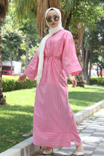 Load image into Gallery viewer, Women's Striped Pink Dress