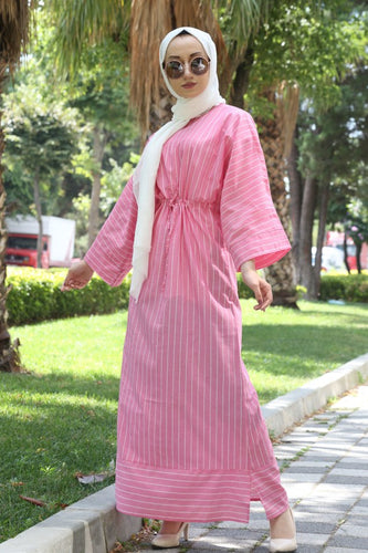 Women's Striped Pink Dress