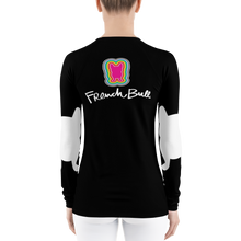 Load image into Gallery viewer, Frenchie  Long Sleeve Rash Guard - Black & White Happy