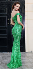 Load image into Gallery viewer, Green Sequin Gown