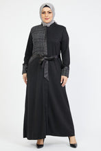 Load image into Gallery viewer, Women's Leather Detail Abaya