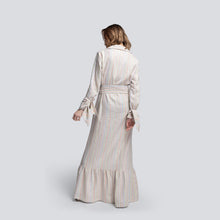 Load image into Gallery viewer, Jodi Long Shirt Dress in Striped Linen