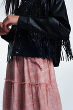 Load image into Gallery viewer, Fringed Biker Jacket