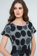 Load image into Gallery viewer, Straight Polka Dot Dress With Pleather Waistband