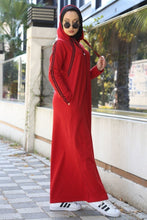 Load image into Gallery viewer, Women's Zipped Red Long Dress