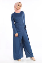 Load image into Gallery viewer, Women's Tie Waist Petrol Modest Overalls