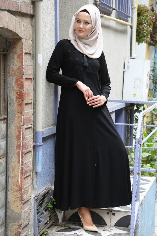 Women's Black Full Abaya
