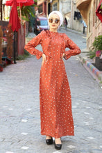 Load image into Gallery viewer, Women's Polka-Dot Modest Dress