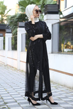 Load image into Gallery viewer, Women's Sequin Black Abaya