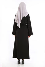 Load image into Gallery viewer, Women's Glitter Detail Black Abaya