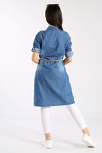 Load image into Gallery viewer, Women's Button Denim Tunic