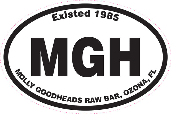 "6"" Molly Goodheads Oval Sticker"