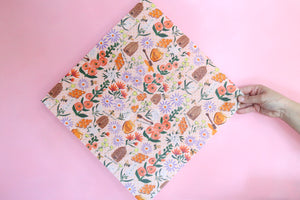 Bees and flowers beeswax wraps