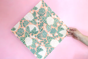 Broccoli and cauliflower beeswax wrap