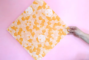 hex beeswax wraps