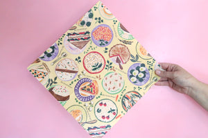 salad pattern beeswax wrap