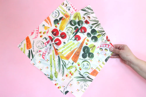 Vegetable starter pack beeswax wraps