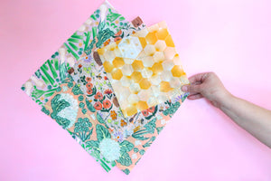 Starter pack of beeswax wraps