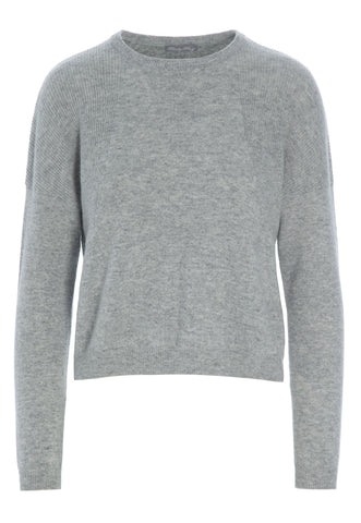 Mai Cosy Cashmere Light Grey Melange