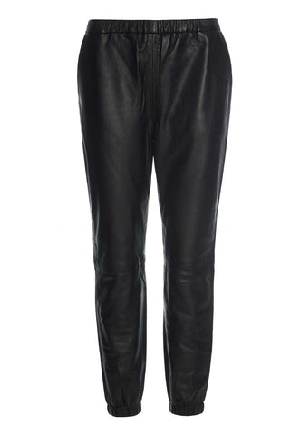Cosy leather pants