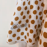 Quilt (Mustard Yellow Polka Dots) with Name Embroidery