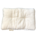 white muslin pillow + everyday pillow + gots cotton + organic cotton + momo + bubs